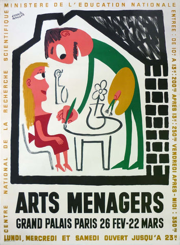Arts Menagers White Artist Large