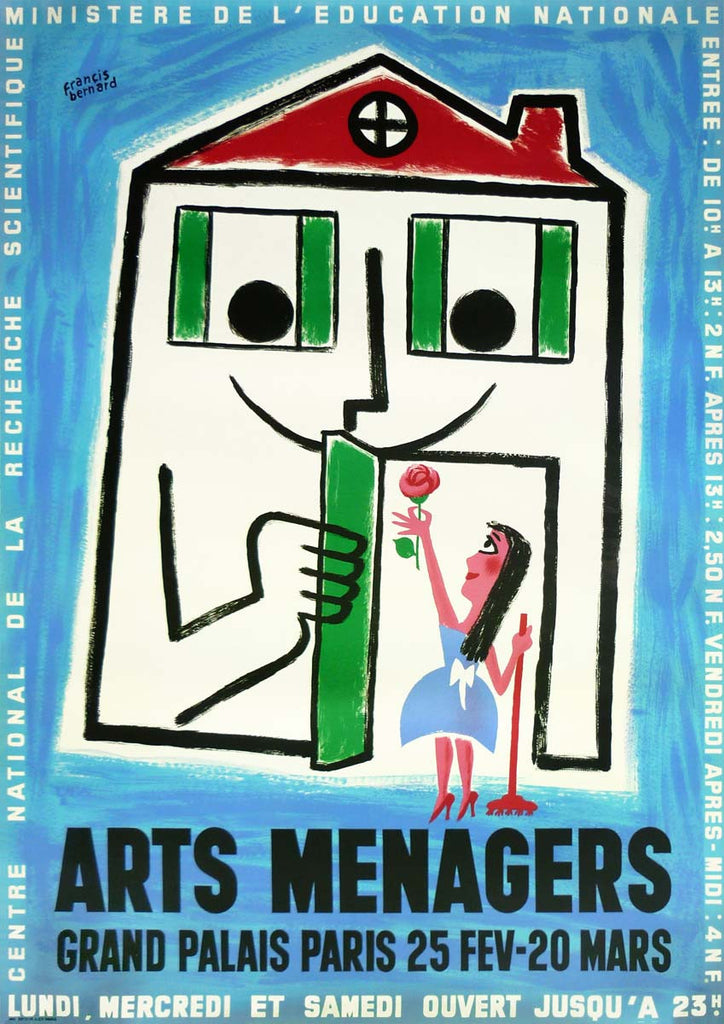 Arts Menagers Light Blue 1960 Large