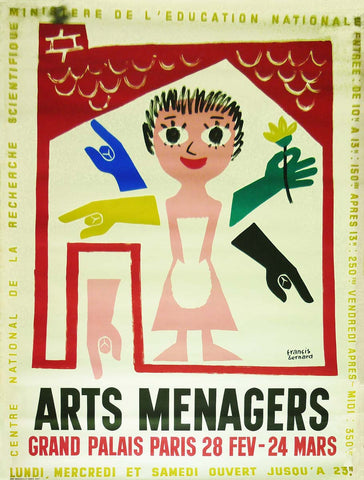 Arts Menagers White 1957 Large