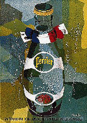 Perrier Vive la France incl Black Archival Framing