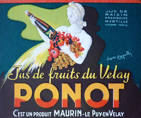 Liquor label - Ponot