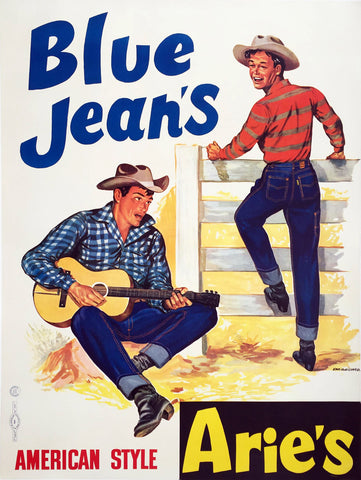 Arie's Blue Jeans