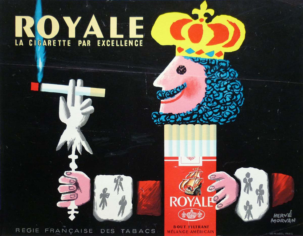 Royale incl Full Archival Framing - white matt/black frame