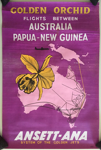 Ansett - ANA Golden Orchid, Flights Between Australia and Papua-New Guinea