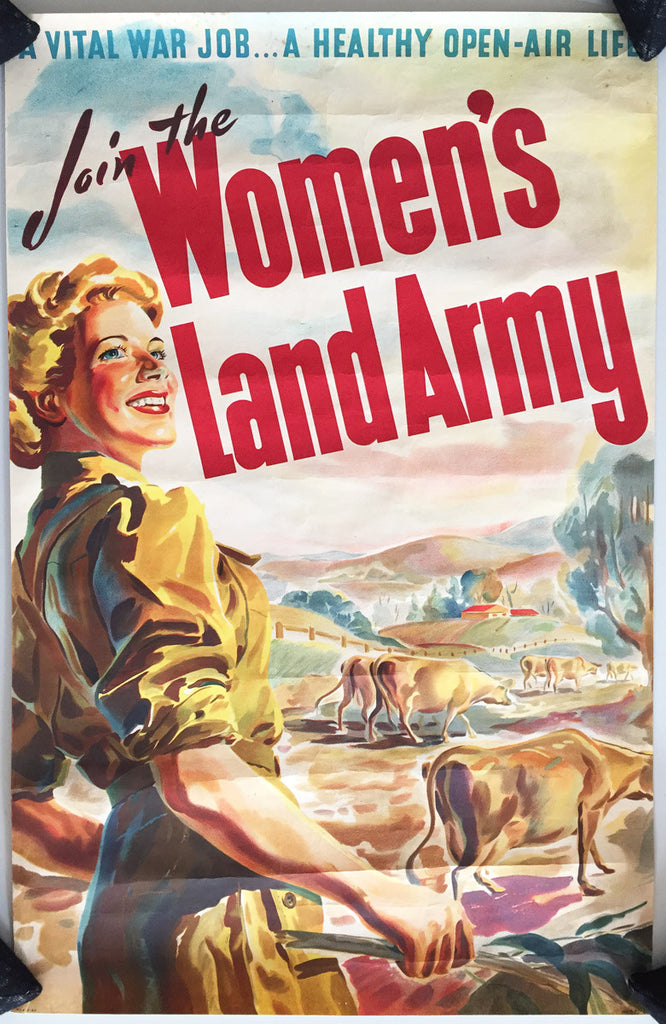 Join the Woman's Land Army, Cattle