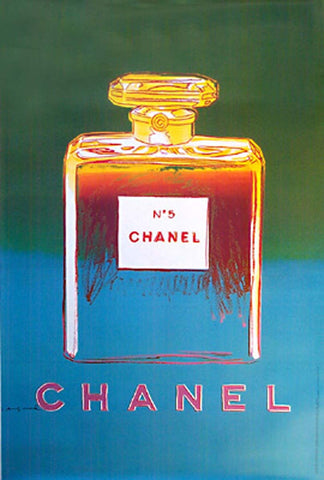 Chanel - Large; Green and Blue