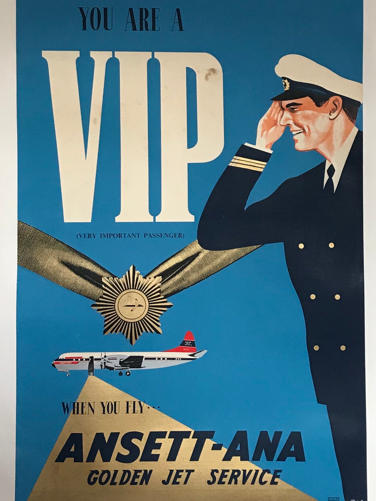 Ansett - ANA, You are a VIP when you fly Golden Jet Service