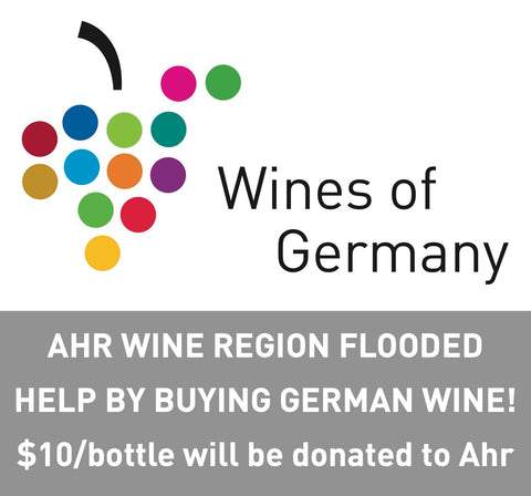 $10 donation for every German wine bottle sold