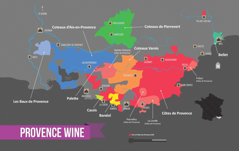 Disposition of Provence wine