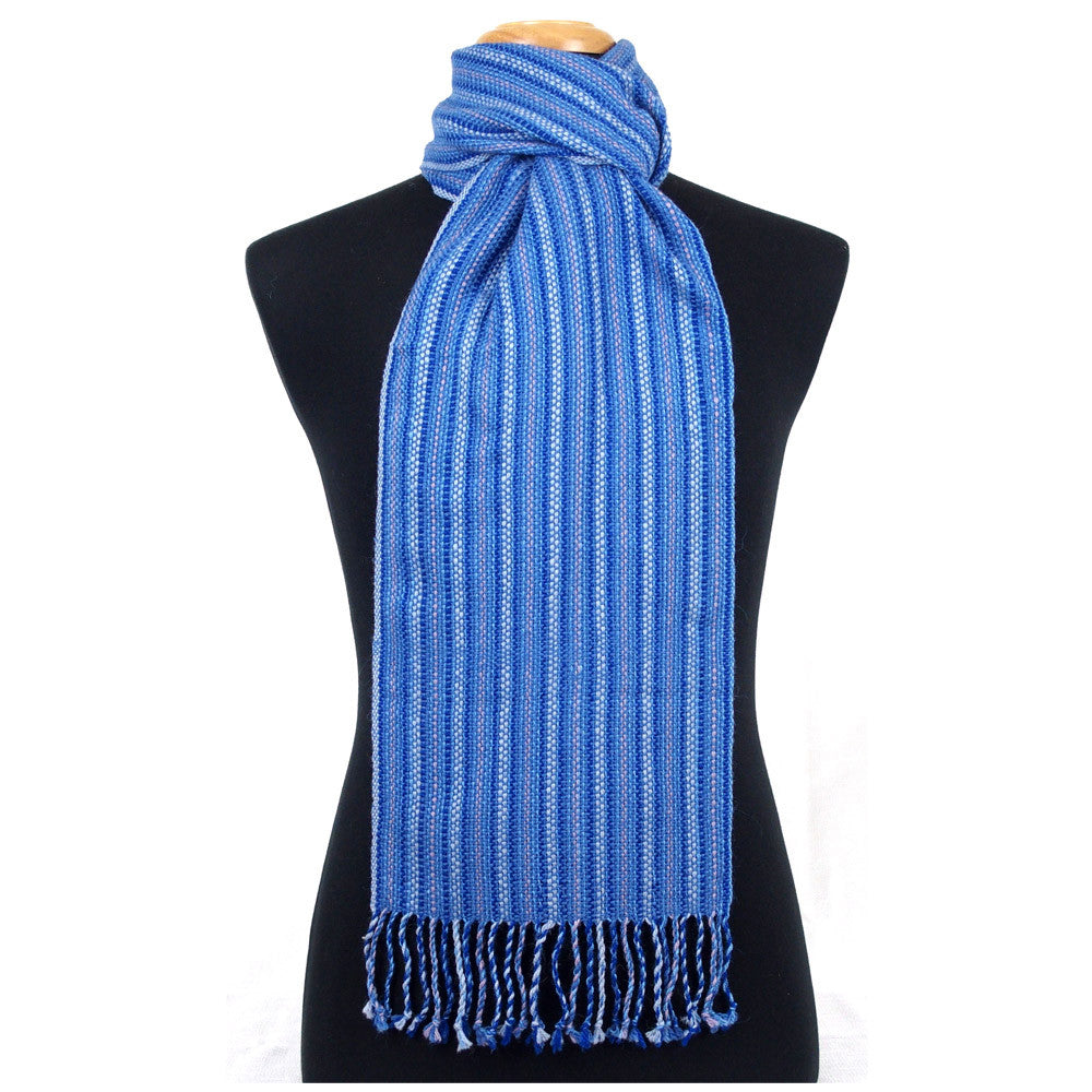 "Alpaca Scarf - ""Light Rays"" Blue"