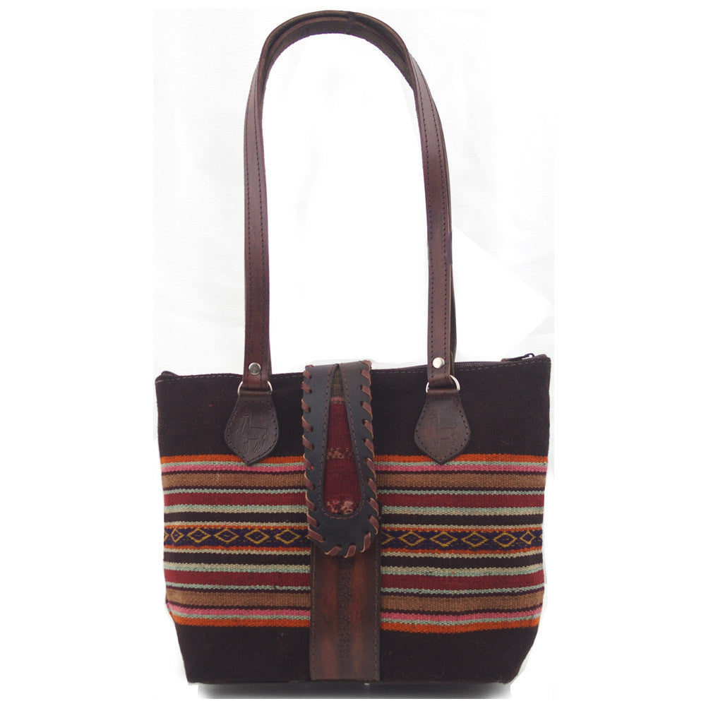 "Woven Purse with Leather Buckle - ""Aymara"""