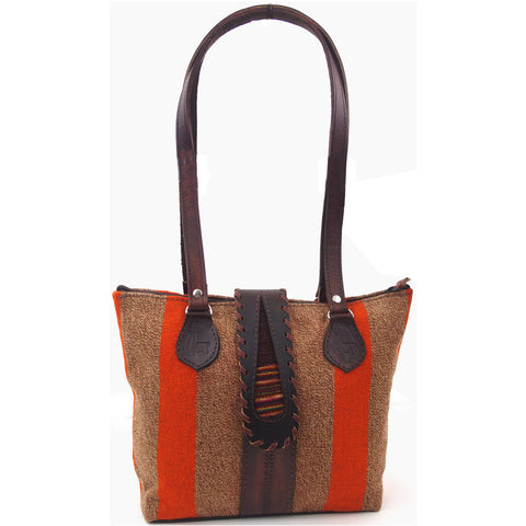 "Woven Purse with Leather Buckle - ""Quemado"""