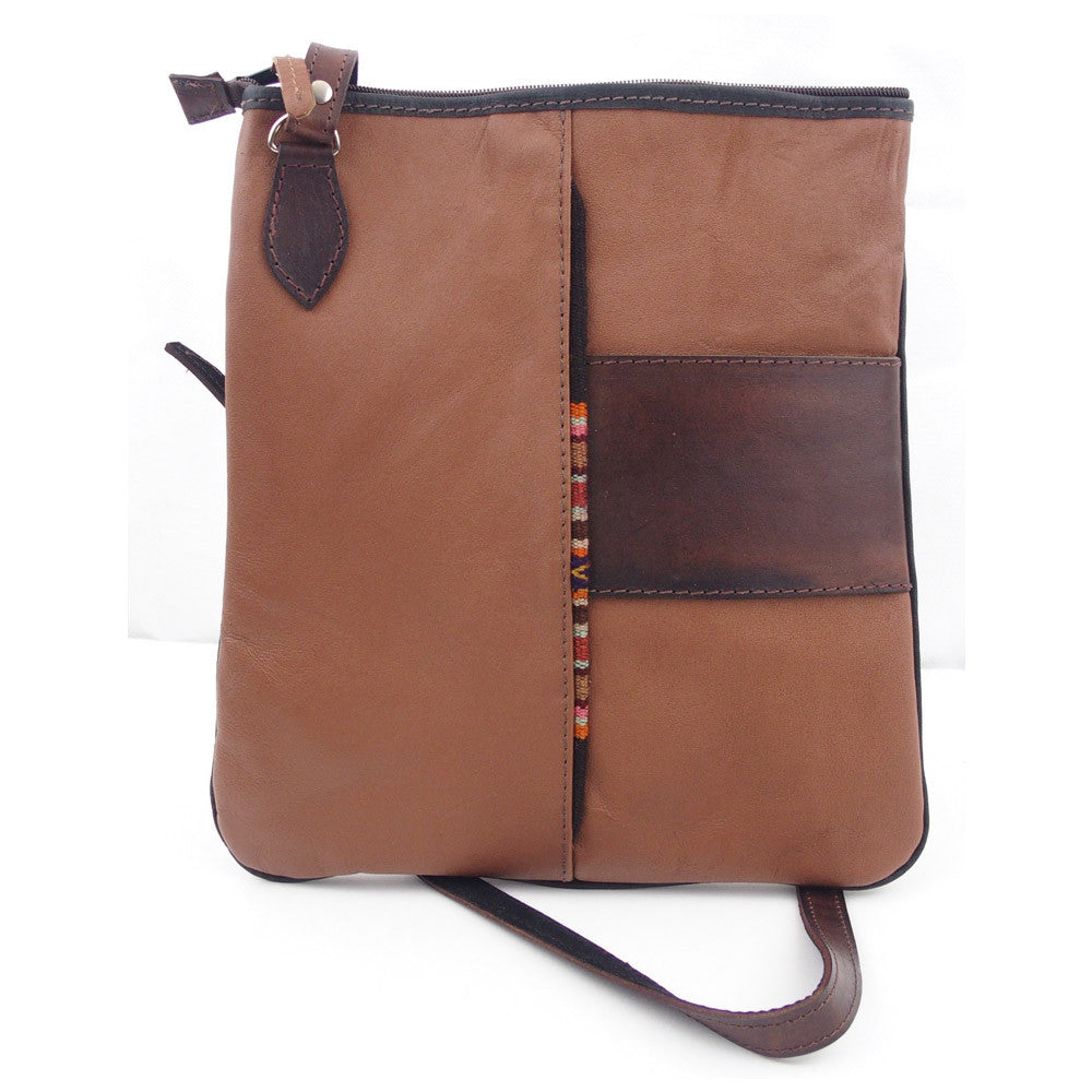 "Leather Shoulder Bag - ""Mensajero"""