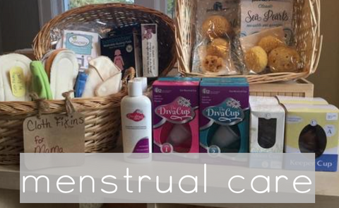 Natural Period Care - Menstrual Cycles, Natural Tampons, Sea Sponges, Diva Cup, Moon Cup, Keeper Cup, Mama Cloth, Cloth Menstrual Pads, POstpartum Pads
