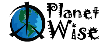 planet wise logo - wet bags, pail liners, snack bags