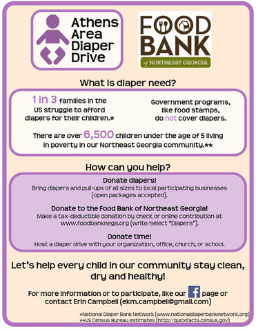 Athens Diaper Drive Donations