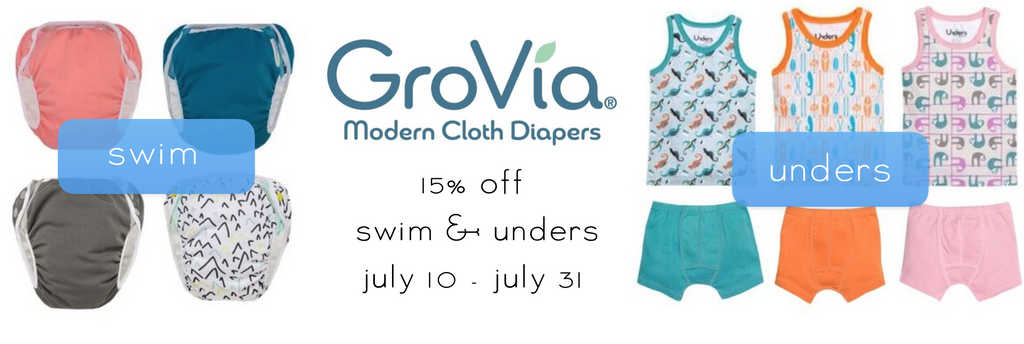 GroVia Swim Diaper and Unders Sale Natural Baby