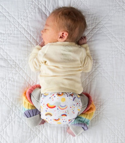 cloth diapers for a zero waste baby - Grovia Rainbow Baby