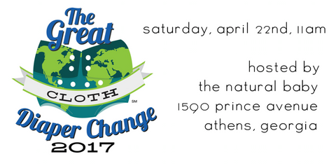 Athens Great Cloth Diaper Change Earth Day April 22 2017