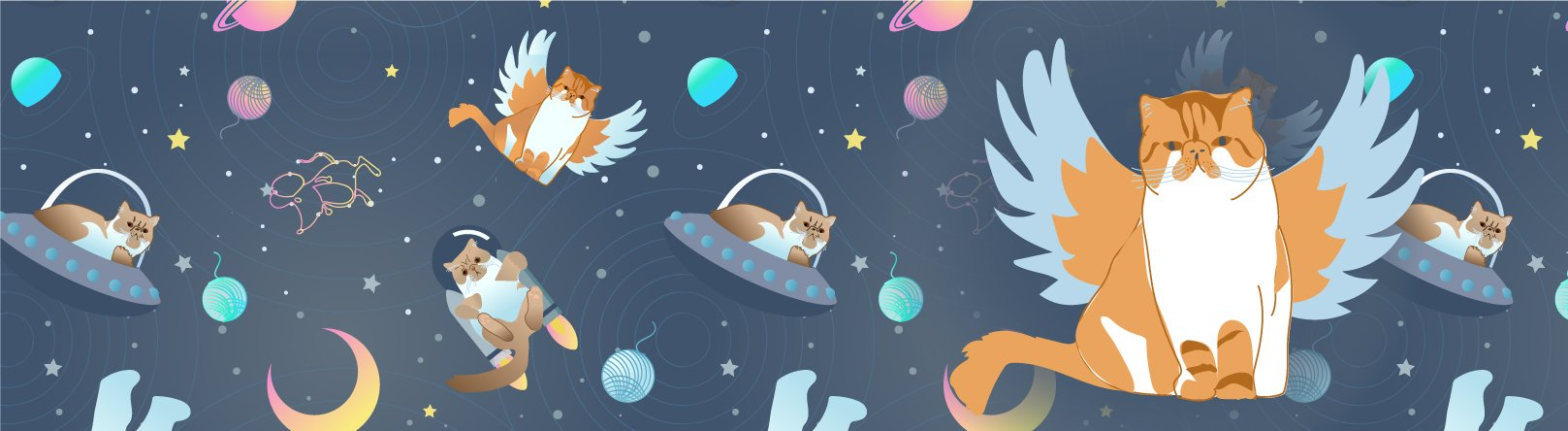 GroVia Space Cats Cloth Diapers - All Good Cats Go To Space