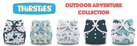 Thirsties Outdoor ADventure Collection & Holiday PRints Winter Woods and Scarlet