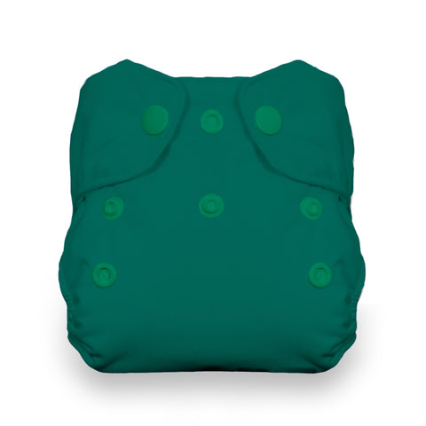 Thirsties Lagoon Natural Newborn All In One Cloth Diaper - Teal Green Lagoon Seaweed bluegreen