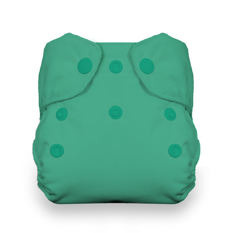 Thirsties Seafoam Natural Newborn All In One Cloth Diaper,  Seafoam green aquamarine newborn all in one