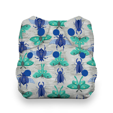 Thirsties Arthropoda Natural Newborn All In One Cloth Diaper - Bugs, Moths, Beetle prints cloth diaper