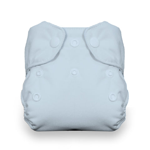 Thirsties Newborn All In One Diaper - Ice Blue Cloth diaper SNaps