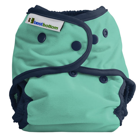Best Bottom Doppleganger Snap Shell, Waterproof Diaper Cover, Mint Green