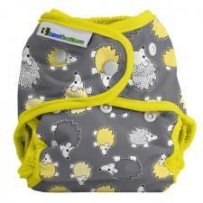 Best Bottom Hedgehog, Snap Shell, Waterproof Diaper Cover, Yellow Hedgehog