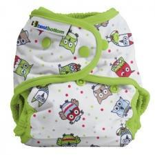 Best Bottom Hoot, Snap Shell, Waterproof Diaper Cover, Owl and Lime