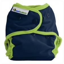 Best Bottom Huckleberry Pie, Snap Shell, Waterproof Diaper Cover, Navy and LIme