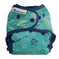 Best Bottom Cotton Jelly Jubilee, Snap Shell, Waterproof Diaper Cover, Jelly Fish
