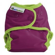 Best Bottom Plum Pie, Snap Shell, Waterproof Diaper Cover, Purple and Lime