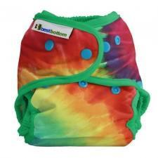 Best Bottom Totally Tie Dye, Snap Shell, Waterproof Diaper Cover, Tie Dye