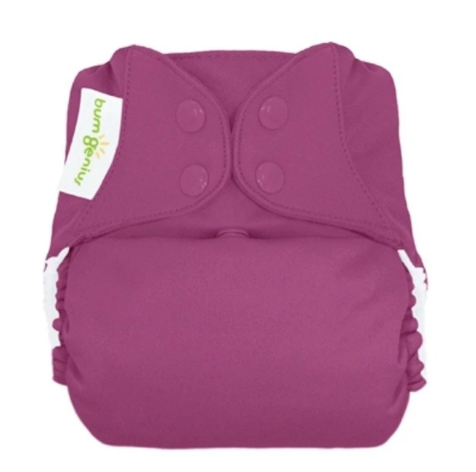 bumgenius elemental Dazzle Purple - One Size Organic Cotton All In One Cloth Diaper