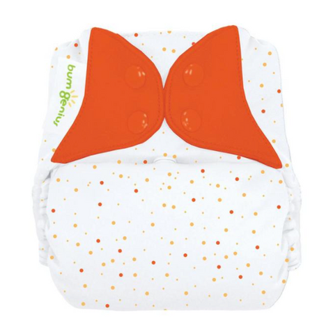 bumgenius Freetime Sassy Dots  - One Size All In One Cloth Diaper