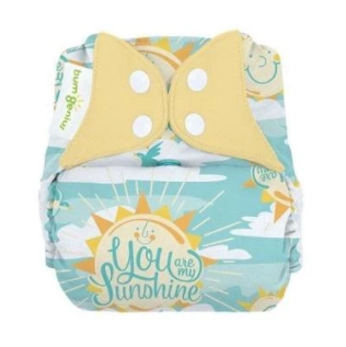 bumgenius elemental My Sun - Sunshine - One Size Organic Cotton All In One Cloth Diaper