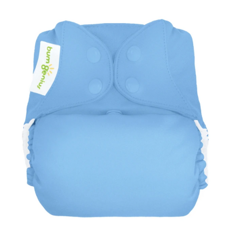 bumgenius elemental Twilight Blue -  One Size Organic Cotton All In One Cloth Diaper