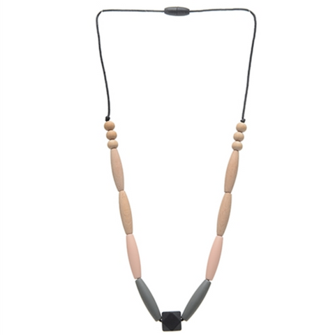 Chewbeads Bedford Blush (Black and Ivory) Necklace - Teething Jewelry For Mom