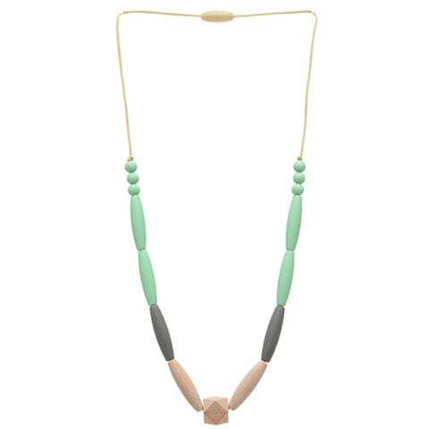 Chewbeads Bedford Mint Necklace - Teething Jewelry For Mom