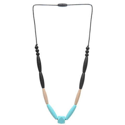 Chewbeads Bedford Turquoise Necklace - Teething Jewelry For Mom