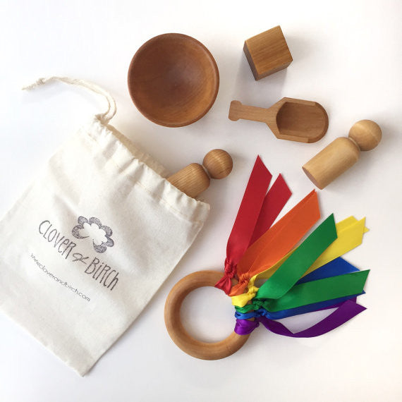 Clover & Birch Busy Bag, Bowl & Scoop