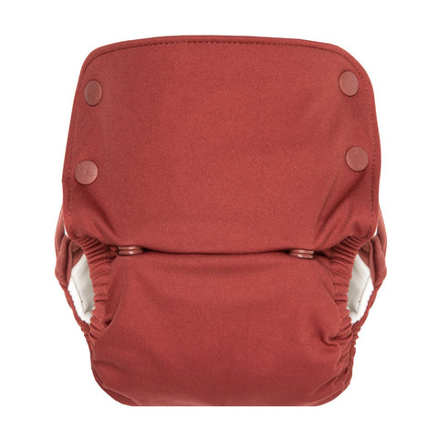 GroVia One Size All In One Cloth Diaper, GroVia OS AIO, Marsala, Red