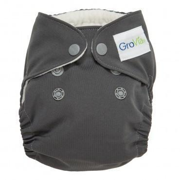 GroVia Newborn All In One AIO, Cloud grey, AIO diaper Nb reusable cloth diaper sale