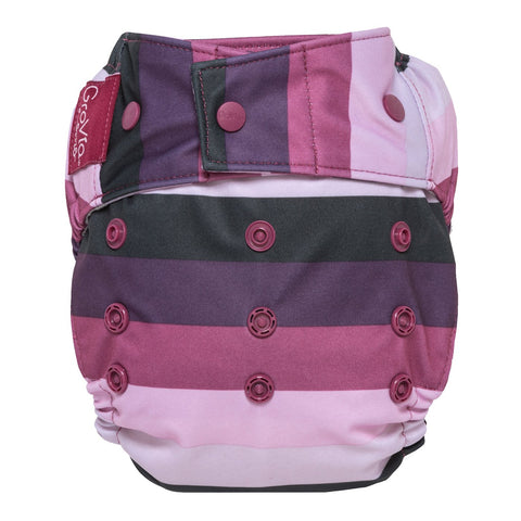 Grovia Hybrid Shell, Snap Sugar Rush - reusable cloth diaper cover