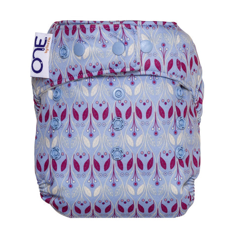 GroVia ONE Waverly,  one size all in one cute nordic girl print