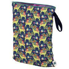 Planet Wise Wet Bag Large, Caribou Bloom, Deer and Flowers