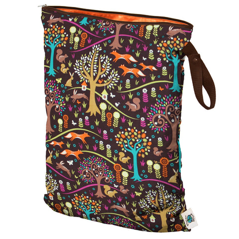 Planet Wise Large Wet Bag, Hanging, Jewel Woods, Foxes trees, and woodland scene